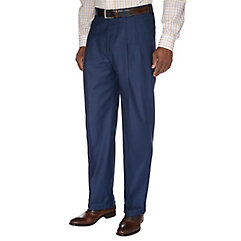 1930s Style Men's Pants Indigo Pure Wool Pleated Suit Separate Pants $60.00 AT vintagedancer.com