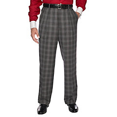 1920s Style Men's Pants & Plus Four Knickers Black  White Pure Wool Glen Plan Pleated Suit Separate Pants $75.00 AT vintagedancer.com
