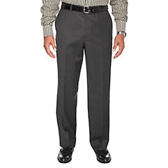1950sStyleMensClothing Charcoal Pure Wool Mini Plaid Flat Front Suit Separate Pants $110.00 AT vintagedancer.com