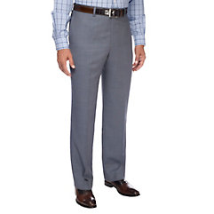 1950s Style Men's Pants Blue Pindot Pure Wool Flat Front Suit Separate Pants $43.00 AT vintagedancer.com