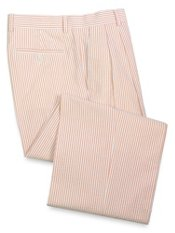 100% Cotton Seersucker Pleated Suit Separate Pants
