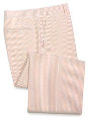 100% Cotton Seersucker Flat Front Suit Separate Pants