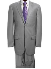 100% Wool 2 Button Notch Lapel Solid Suit