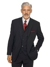 100% Wool Two-Button Notch Lapel Suit Separate Jacket