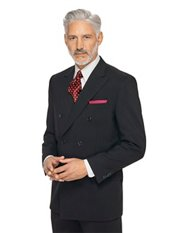100% Wool Double Breasted Peak Lapel Suit Separate Jacket