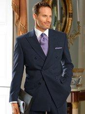 100% Wool Double Breasted Peak Lapel Suit Separate Jacket