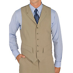 DressinGreatGatsbyClothesforMen 100 Wool Six-Button Notch Lapel Suit Separate Vest $30.00 AT vintagedancer.com
