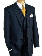 100% Wool Two-Button Notch Lapel Trim Fit Suit Separate Jacket