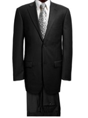 100% Wool Two-button Notch Lapel Trim Fit Suit
