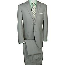 Wool & Silk Sharkskin Two-Button Peak Lapel Suit