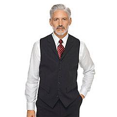 Men's Vintage Inspired Vests 100 Wool Six-Button Notch Lapel Suit Separate Vest $70.00 AT vintagedancer.com