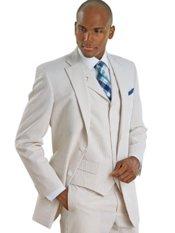 Stripe Seersucker Pure Cotton Suit Separate Jacket