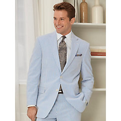 Stripe Seersucker Pure Cotton Suit Separate Jacket $185.00 AT vintagedancer.com