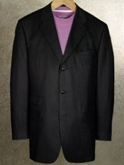 Linen & Silk Three-Button Notch-Lapel Suit