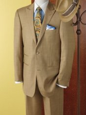 Wool & Silk Sharkskin Two-Button Peak-Lapel Suit