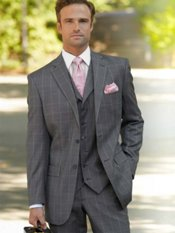100% Wool Two-Button Notch Lapel Suit