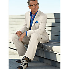 Silk & Linen Three-Button Notch Lapel Suit