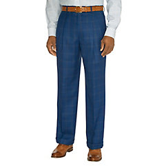 1940s Style Men's Pants and Trousers Indigo Wool Pleated Suit Pants $110.00 AT vintagedancer.com