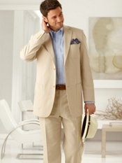 Cotton Seersucker Two-Button Notch Lapel Suit