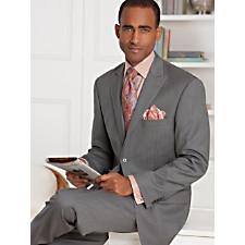 100% Wool Stripe Two-Button Peak Lapel Suit