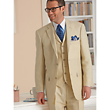 Wool & Linen Solid Two-Button Notch Lapel Suit