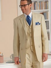 Wool & Linen Solid Two-Button Notch Lapel Suit