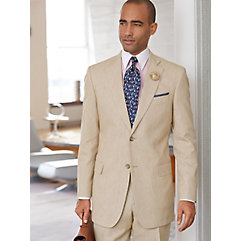 Tan Textured Linen  Cotton Suit $275.00 AT vintagedancer.com