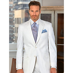 White Pincord Pure Cotton Suit Separate Jacket $270.00 AT vintagedancer.com