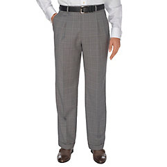 Grey Plaid Italian Super 120s Pure Wool Pleated Suit Separate Pants $150.00 AT vintagedancer.com