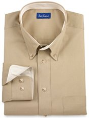 Contrast Detail Cotton Twill Sport Shirt