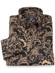 100% Cotton Paisley Button Down Collar Sport Shirt