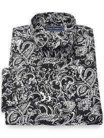 100% Cotton Paisley Button Down Collar Sport Shirt