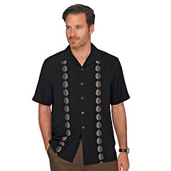 1950s Style Mens Shirts 100 Silk Embroidered Camp Shirt $85.00 AT vintagedancer.com