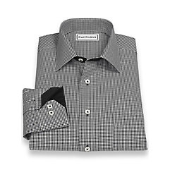 Non-Iron 100 Cotton Houndstooth Spread Collar Sport Shirt $70.00 AT vintagedancer.com