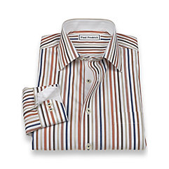 Non-Iron 100 Cotton Stripe Spread Collar Sport Shirt $70.00 AT vintagedancer.com