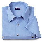 Paul Fredrick Blue Linen shirt for tall men