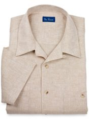 100% Linen Camp Collar Sport Shirt