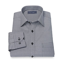1950s Style Mens Shirts 100 Cotton Dot Button Down Collar Sport Shirt $45.00 AT vintagedancer.com