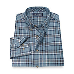 1950s Style Mens Shirts 100 Cotton Plaid Hidden Button Down Collar Sport Shirt $39.00 AT vintagedancer.com