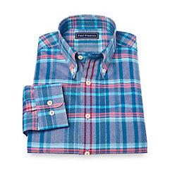 1950s Style Mens Shirts Cotton Plaid Sport Shirt $45.00 AT vintagedancer.com