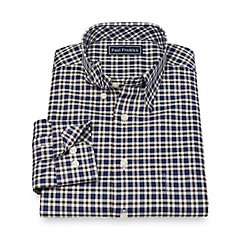 1940s Style Mens Shirts Cotton Plaid Sport Shirt $80.00 AT vintagedancer.com