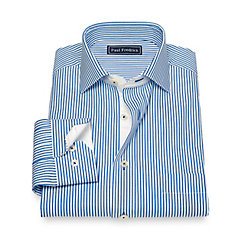 1930s Style Mens Shirts Cotton Stripe Sport Shirt $80.00 AT vintagedancer.com