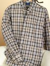 100% Cotton Plaid Hidden Button Down Collar Trim Fit Sport Shirt