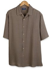100% Silk Short Sleeve Camp Shirt