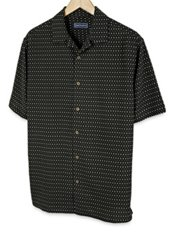 100% Silk Print Short Sleeve Camp Shirt