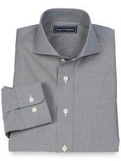 100% Cotton Dot Cutaway Collar Sport Shirt