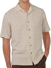 100% Silk Printed Paisley Short Sleeve Camp Shirt