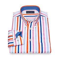 1960s Style Men's Clothing Cotton Stripe Sport Shirt $50.00 AT vintagedancer.com
