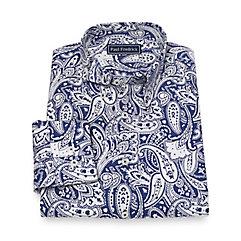 1960s Style Men's Clothing Cotton Paisley Sport Shirt $60.00 AT vintagedancer.com