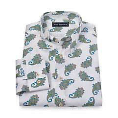 1960s Style Men's Clothing Cotton Paisley Sport Shirt $40.00 AT vintagedancer.com